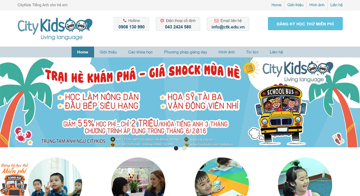 thiet ke web wordpress citykids
