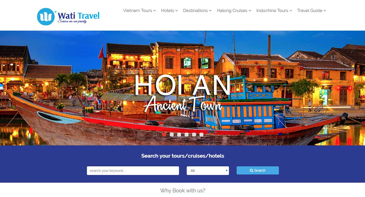 thiet ke web wordpress watitravel
